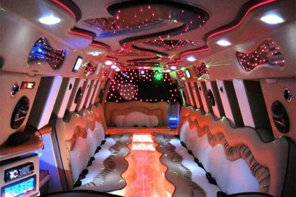 Escalade Limo Interior Dallas